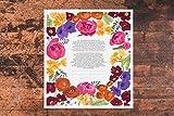 Vibrant Bouquet Ketubah | Jewish/Interfaith/Quaker Wedding Certificate | Hand-Painted, Giclée Print