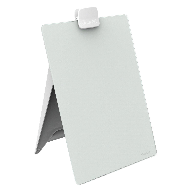 Quartet Glass Dry Erase Board, Desktop Easel Whiteboard/White Board, 9'' x 11'', White Surface, Frameless (GDE119)