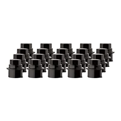 DPAccessories CC-3B-P-OBK05020 20 New Black Plastic Wheel Lug Nut Caps - Replaces GM 9593028/9593228 Wheel Lug Nut Cap: Automotive
