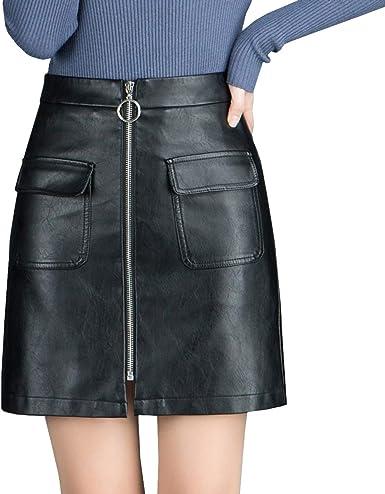 E-Girl CD1927 - Falda Mini Perforada para Mujer Negro 40 EU XXL ...