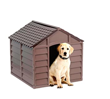KitGarden Keny Medium Caseta para Perros, Chocolate, 68x71x71 cm: Amazon.es: Jardín