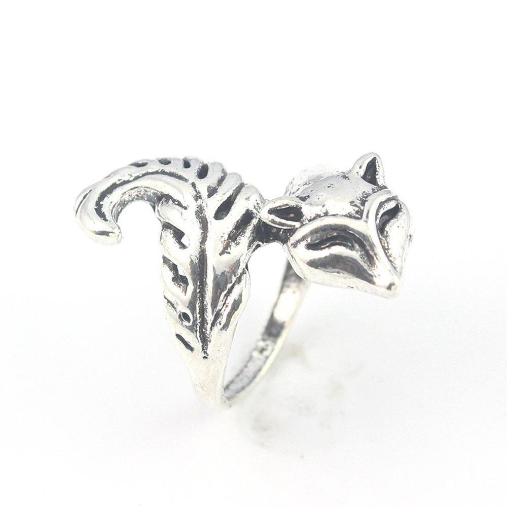 silverjewelgems Squarrel Plain Fashion Jewelry .925 Silver Plated Ring 9 S23338