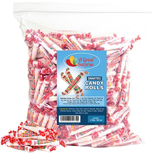 Smarties Candy Rolls Bulk - Original Flavor, 4LB Party Bag, Bulk Candy, Family -