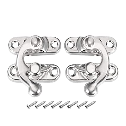 Swing Arm Latch Silver Tone 10 Pairs w Screws uxcell Antique Latch Hook Hasp
