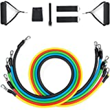 Exercise Resistance Bands Set Fitness Stretch Tubes Workout Bands with Handle for Stretching Physical Therapy and Home Fitness