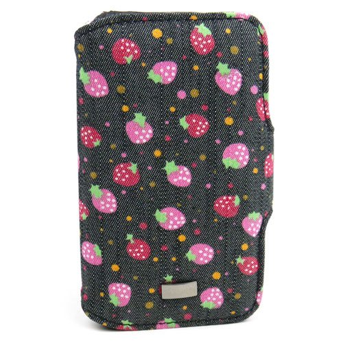 JAVOedge Strawberry Jeans Book Case for Apple iPhone 4/4S