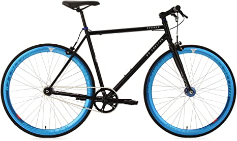 KS Cycling Fixie - Bicicleta de carretera, color negro / azul ...