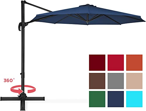 Best Choice Products 10ft 360 Degree Rotating Cantilever Offset Patio Umbrella w Easy Tilt