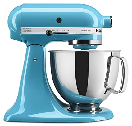 KitchenAid KSM150PSAQ 10-Speed Stand Mixer w/ 5-qt Stainless Bowl &  Accessories, Aqua Sky