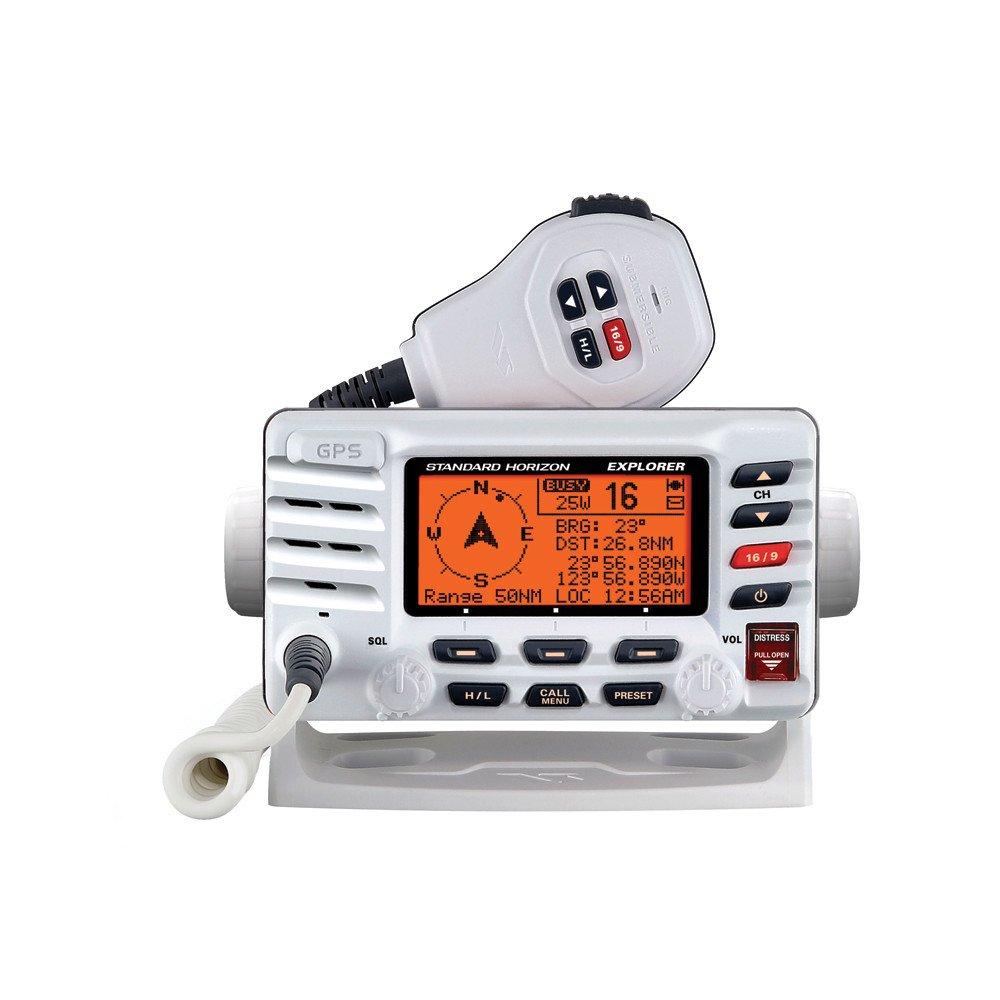 Standard Horizon Explorer GX1700W GPS Fixed Mount VHF - White by CWR (Image #1)