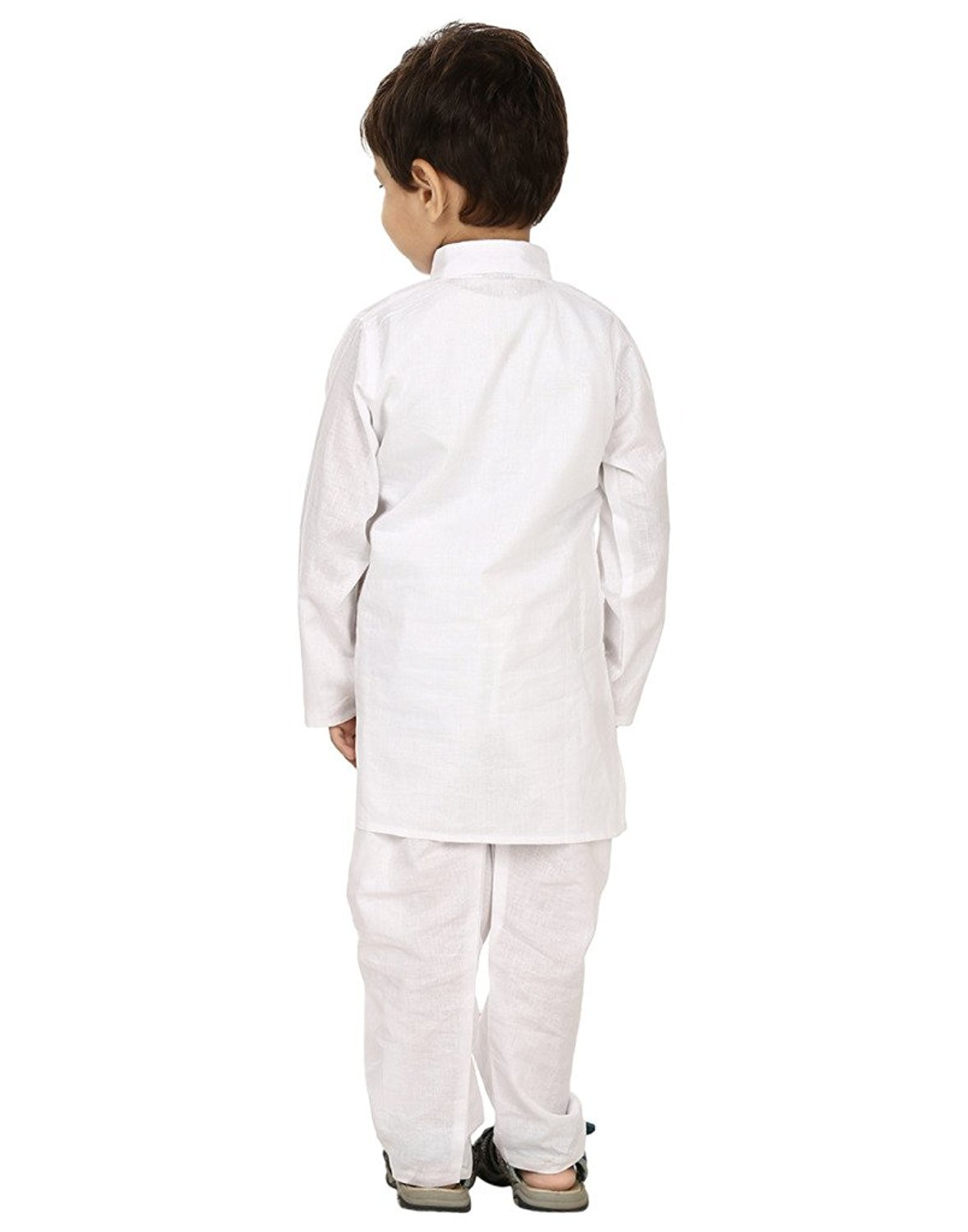 FOCIL Festival Season Special White Cotton Kurta & Pyjama Pant Set for Kids by FOCIL (Image #4)
