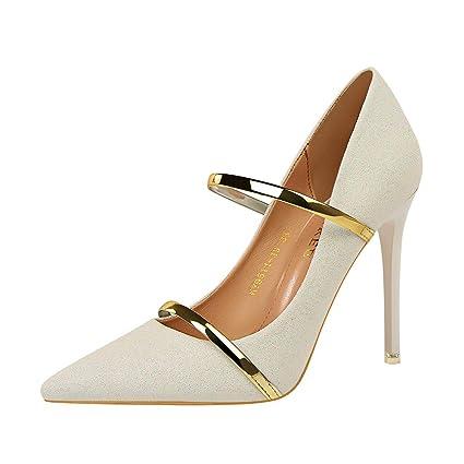 19ae42d2b25 Amazon.com: LIANGXIE Spring Fall Fashion Womens Ankle Strap HIGH ...