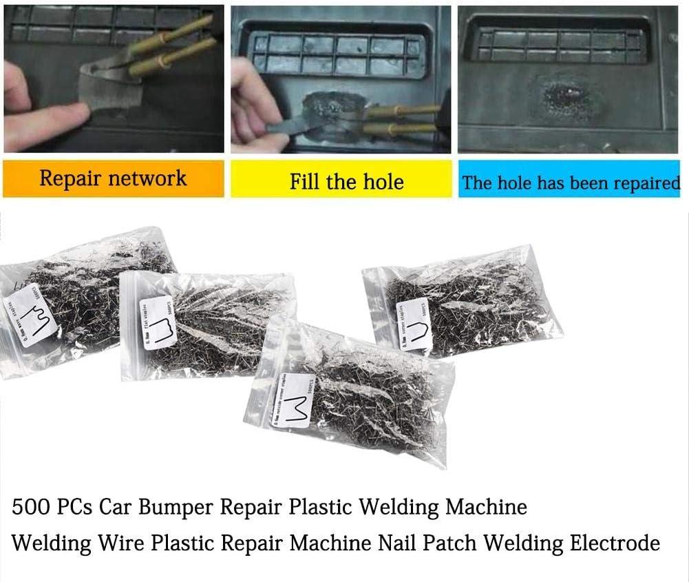 Cucitrice di plastica dellacciaio inossidabile delle graffette dei pezzi da 500 pc per il chiodo di riparazione di plastica automatico del paraurti di riparazione delle graffette dellautomobile