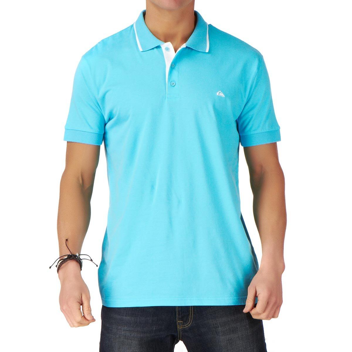 QUIKSILVER - Polo - para Hombre Azul Azul 42: Amazon.es: Ropa y ...
