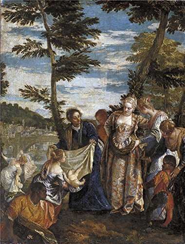 Water Of Costume The God Bride (Oil Painting 'Veronese Paolo Moses Saved From The Waters Ca. 1580 ' Printing On High Quality Polyster Canvas , 16 X 21 Inch / 41 X 54 Cm ,the Best)