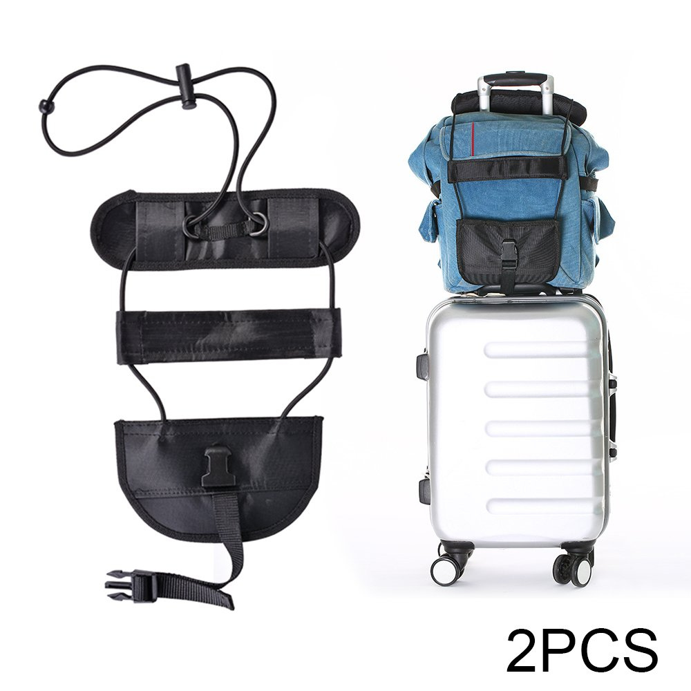 XCSOURCE 2pcs Bag Bungee Luggage Bungee Adjustable Luggage Strap Elastic Suitcase Bag Carry On Holder for Travel HS987