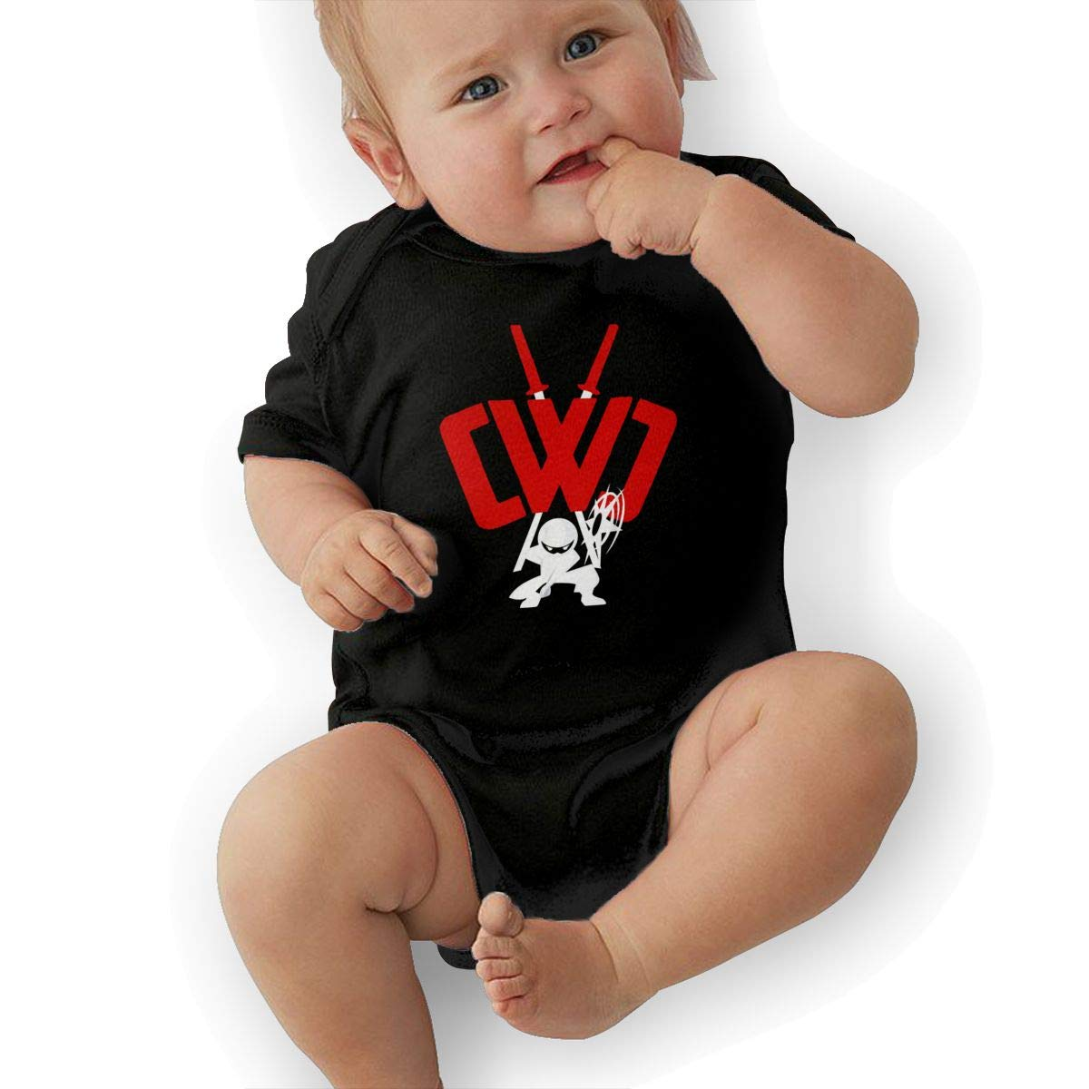 Kids Baby Short Sleeve Romper CWC Chad Wild Clay Ninja Unisex Cotton Cute Jumpsuit Baby Crawler Clothes