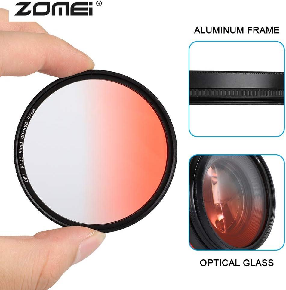 67mm Aluminum Frame Ultra Slim Graduated Neutral Density Filter for DSLR Pbzydu Gradient ND Filter Red