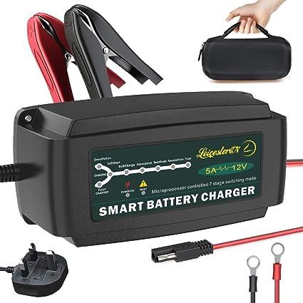 Cargador de batería de coche 12 V 5 Amp 7 Etapa Automático ...