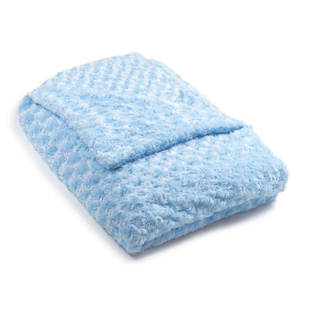 Light Blue Chenille Magic Weighted Blanket | The World's 1st Weighted Blanket | Soft Luxurious Fabric | Made in USA | The Blanket That Hugs You Back | for Sleep & Anxiety