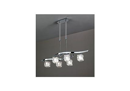 Mantra 0955 Lustre Cuadrax - Lámpara de techo (G9, 230 V ...