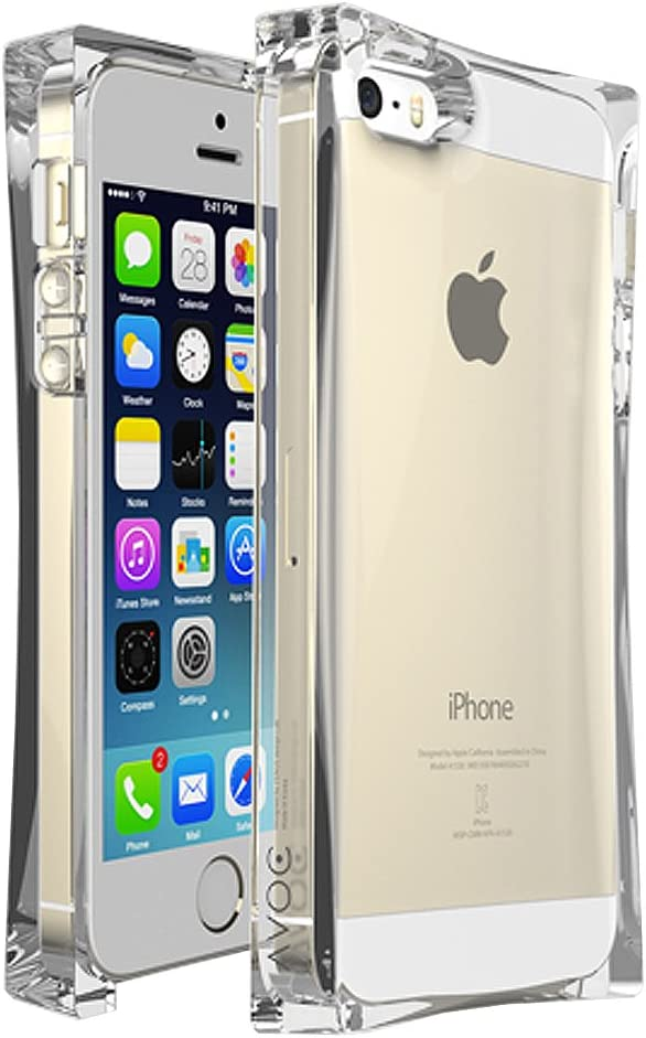 iPhone SE / iPhone 5S / iPhone 5 Case, AVOC 'ICE CUBE' [Crystal Clear] Transparent Bumper Case Cover for Apple iPhone 5 SE / iPhone 5S / iPhone 5