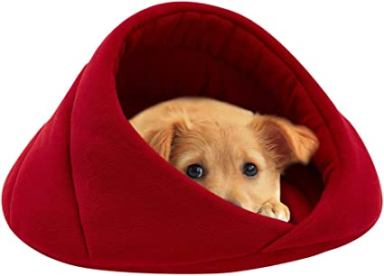 4 Colors to Choose Leopard Print Pink Comfortable and Detachable Pet House Cave Bed Tent for Small Medium Dog Cat
