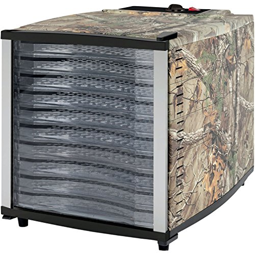 Magic Chef MCL10PFDRT Realtree Xtra Food Dehydrator, 17.9 x 12.9x 14.8, (10 Tray Food Dehydrator)