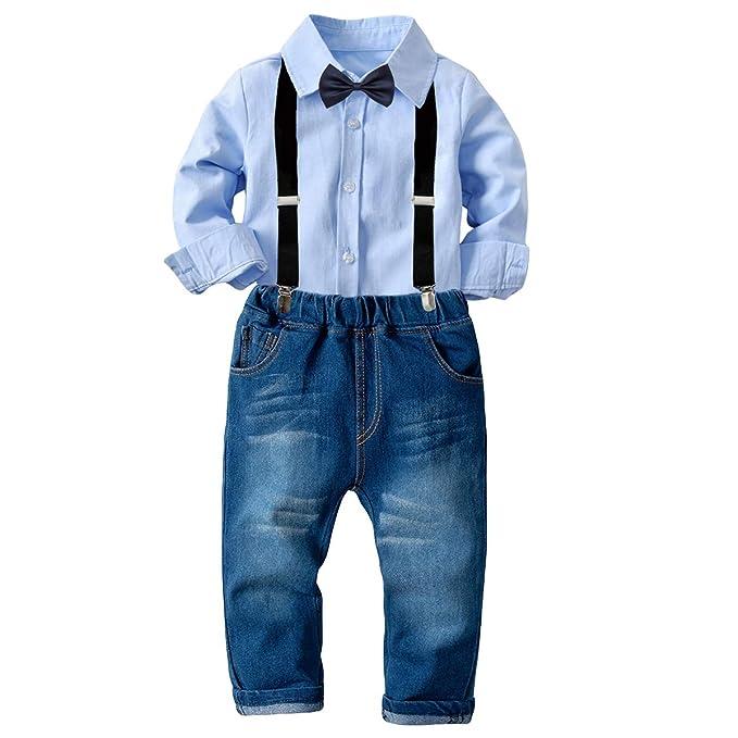 DaMohony Traje para Niños Conjuntos de Camisa + Pantalones ...