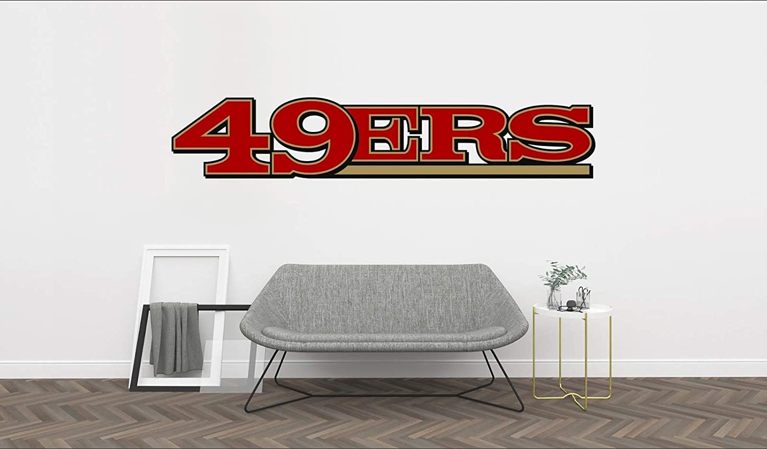 """Football Logo 49ers - Removable Wall Decal Vinyl for Home Decoration (40""""x8"""")"""