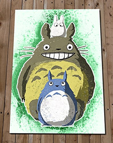 My Neighbour Totoro Print - Studio Ghibli Poster - Totoro Watercolour Painting - Wall