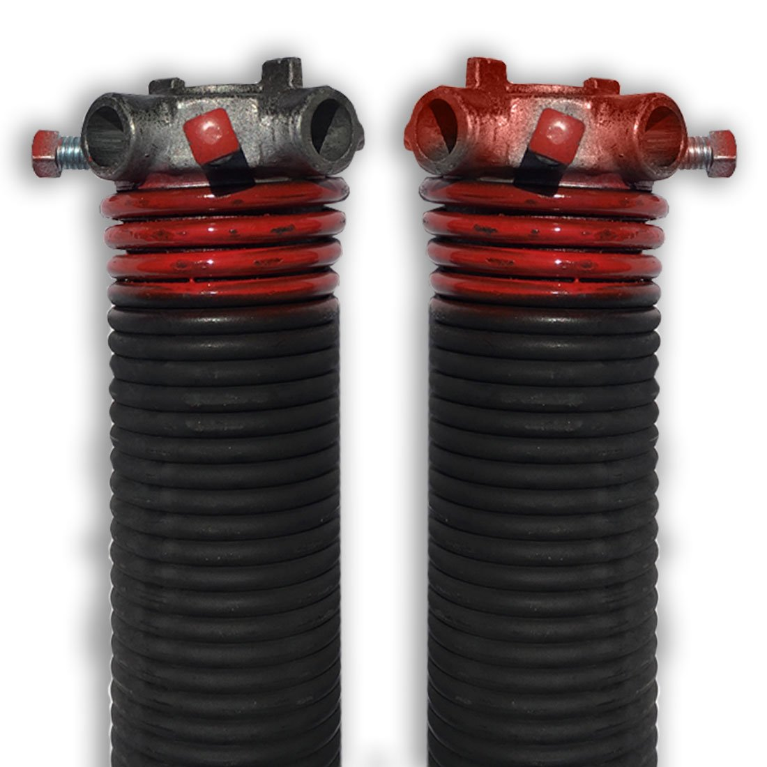 DURA-LIFT .225 x 2'' x 27'' Torsion Garage Springs (Red, Left & Right Wound)