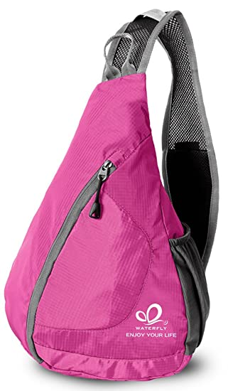 WATERFLY Packable Shoulder Backpack Sling Chest CrossBody Bag Cover Pack Rucksack For Bicycle Sport Hiking Travel