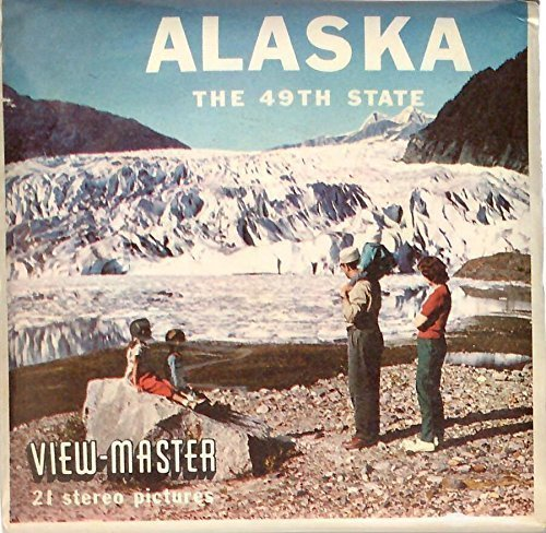 1950 Viewmaster Reel - 1950's Alaska The 49th State 3d View-Master 3 Reel Packet
