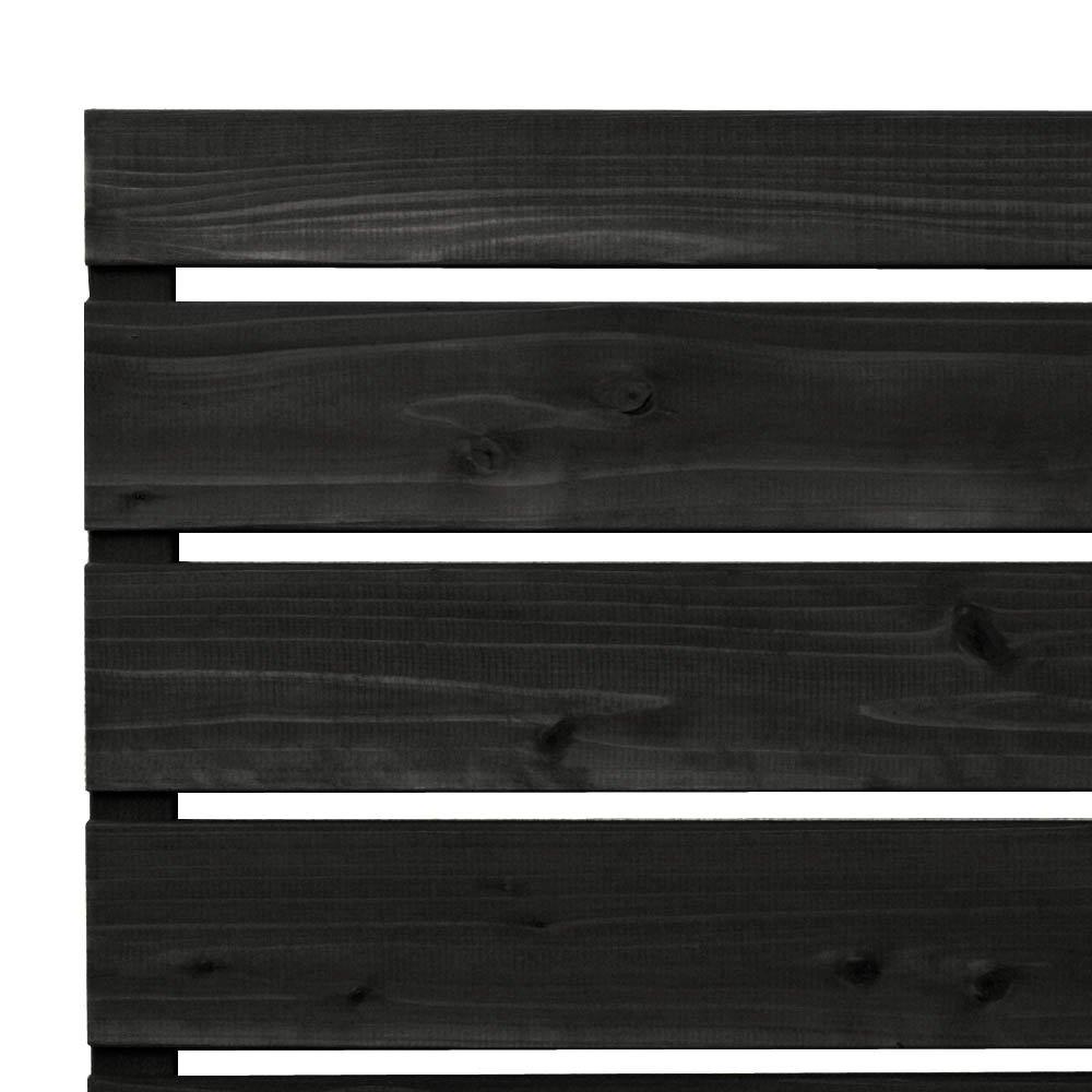 枠付き フェンス 横板C(隙間15ミリ) 国産杉【上下枠】 幅1960×高さ589×奥行36mm NL(ナチュラル)色 B0765QH1F8 幅1960mm,NL(ナチュラル)
