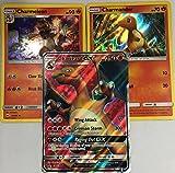 100 Pokemon Cards with CHARIZARD GX evolution