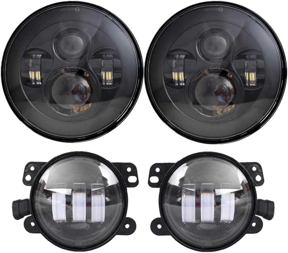 Black LED Headlights