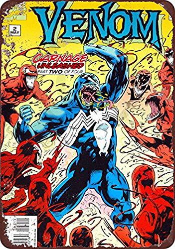 (KPSheng Venom Comic Book Wall Art Marvel Comics Vintage Reproduction Metal Sign 8 x 12)