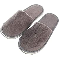 1 pair Of Indoor Home Slippers Warm Wooden Floor Thick Cotton Slippers Autumn And Winter Couples Slippers Makalong Color HairDisposable Slippers, Great For Hotel, Spa, Guest,Size: 44/45 EU