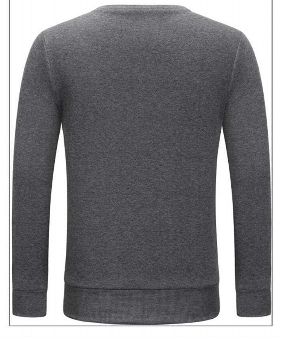 XTX Mens Fashion Pullover Sweater Block Color Crewneck Knitted Sweater
