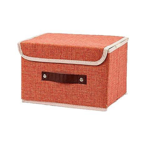 ERRU- Small Fold Cloth Art Storage Box Guardarropa Ropa interior Calzoncillos Sujetador Calcetín Pure Color