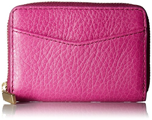 Fossil Rfid Mini Zip Wallet Wallet - Hot Pink - One Size