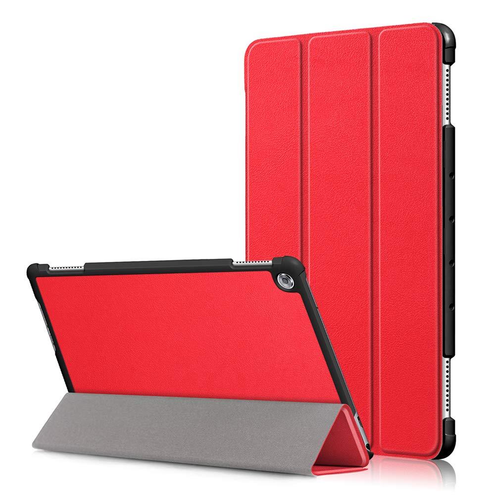 品質一番の Huawei MediaPad M5 M5 Lite 10.1インチ (レッド) 2018ケース 高級本革ケース 視聴スタンド付き フリップカバー 2018用 ハンドメイド Huawei MediaPad M5 Lite 10.1インチ 2018用 (レッド) B07LCH84QP, ナスグン:d9386b12 --- a0267596.xsph.ru