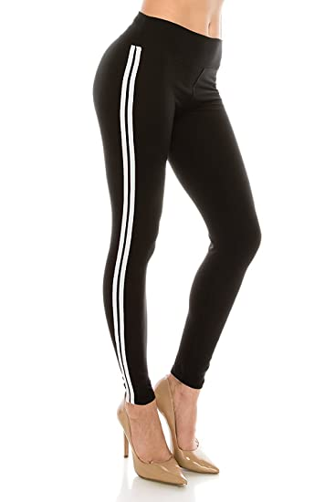 4250a6b8e35c0c Most Comfort Fitted Stretch and 2-Stripes Activewear Jogger Track Leggings ( One Size,