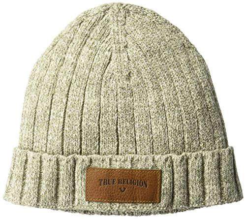 True Religion Men's Variegated Knit Watchcap, Military, OSFA