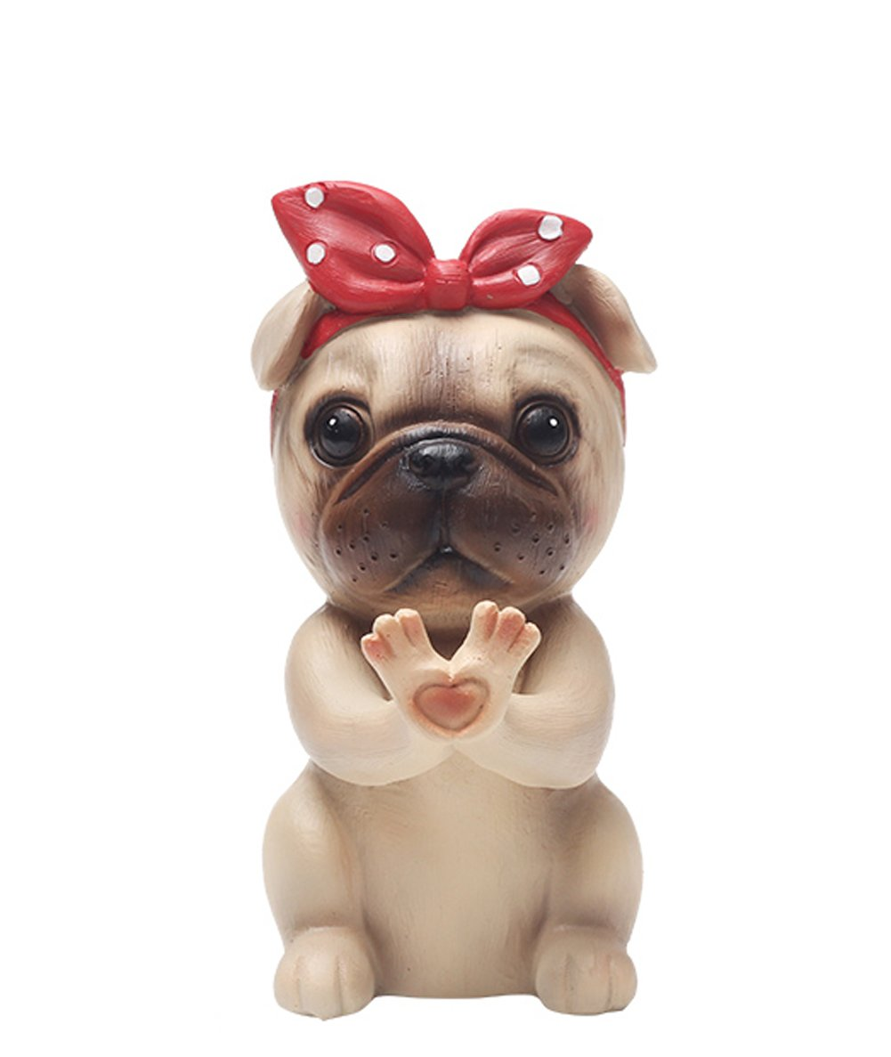 YOURNELO Cute Zakka Animal Eyeglass Holder (Pug)