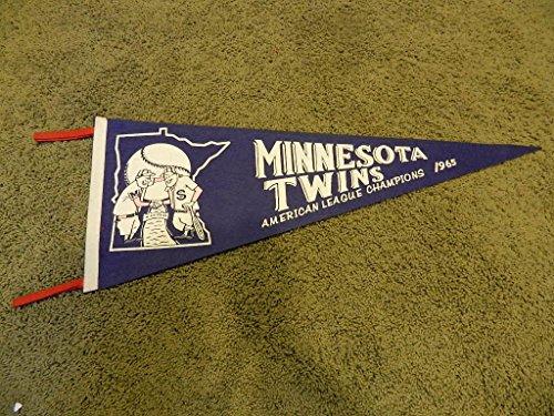1965 Minnesota TWINS AMERICAN LEAGUE CHAMPIONS BASEBALL Premium Felt Pennant/Banner