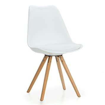 Mmilo® Tulip Star sillas de Comedor Patas de Madera con ...