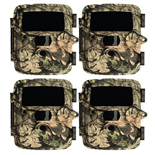 (4) Covert Extreme Black HD 60 Digital Trail Game Camera (Mossy Oak) | 12MP