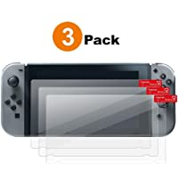 Haobase 3Pack Screen Protector for Nintendo Switch, Ultra Clear/Anti-Bubble HD Full Coverage Protection For Nintendo…